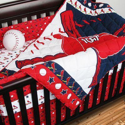 St Louis Cardinals 4 Pc Crib Set Baby Crib Bedding Sets Baby