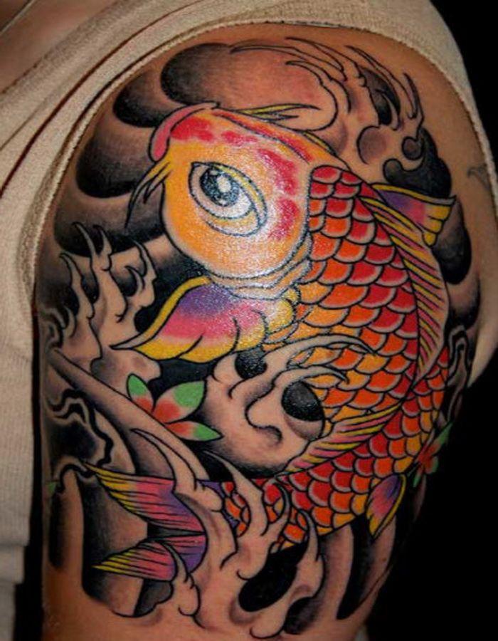koi fish dragon tattoo half sleeve | tatr= | Pinterest ...