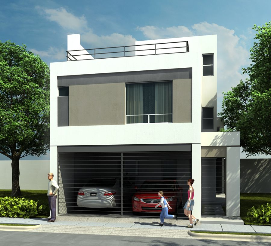 Casas en venta y departamentos casa muestra modelo 211scl for Fachadas de casas modernas de interes social