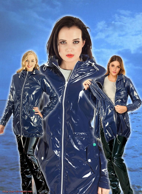 Regenmantel Und Vinylhose 2 Vinyl Raincoat Blue Raincoat Vinyl Clothing