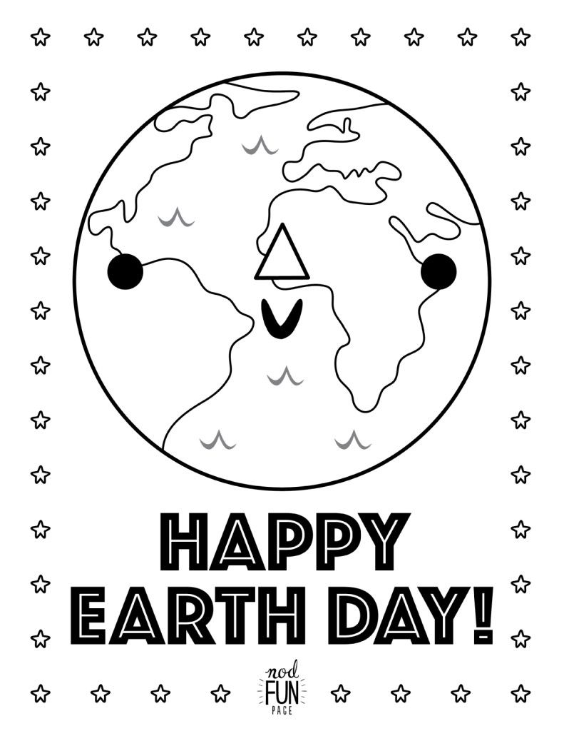 Printable Coloring Pages Earth Day Earth day coloring