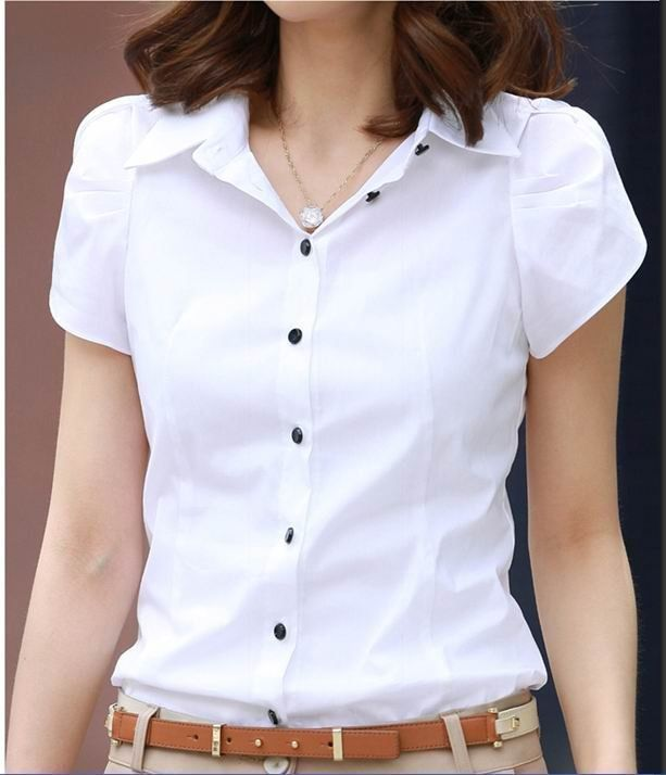 Brilliant CornerStone Shirts Womens Light White Dress Shirt CS25WHT