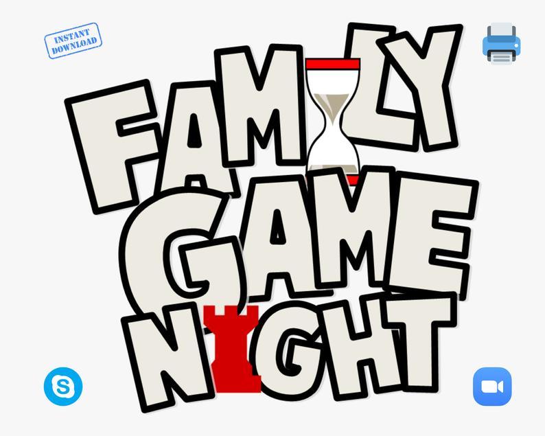 Virtual Games Night Lockdown Ideas Printable Games Fun