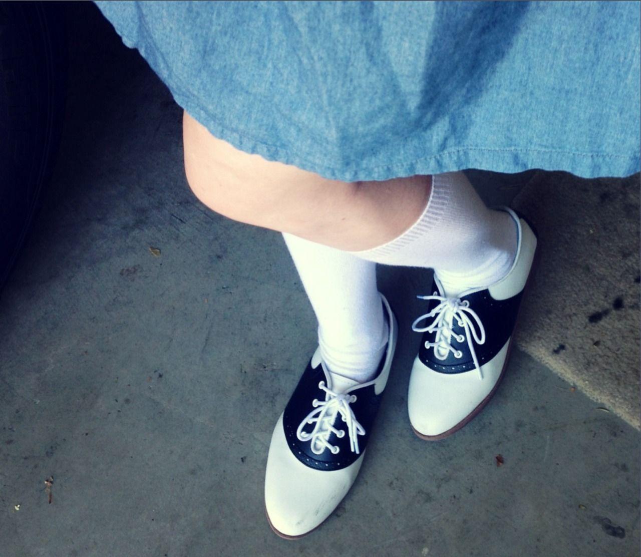 socks, Saddle oxford shoes, Saddle shoes