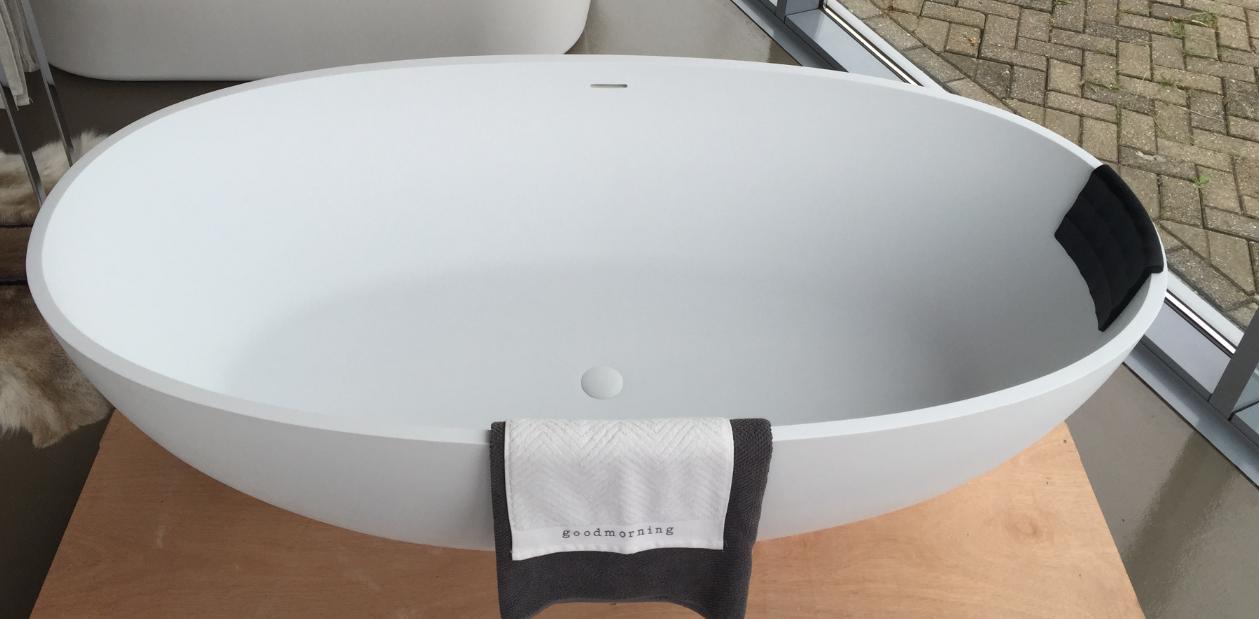 Vrijstaand Bad Mat Wit.Solid S Allessi Vrijstaand Bad 177 5x91 Solid Surface Mat
