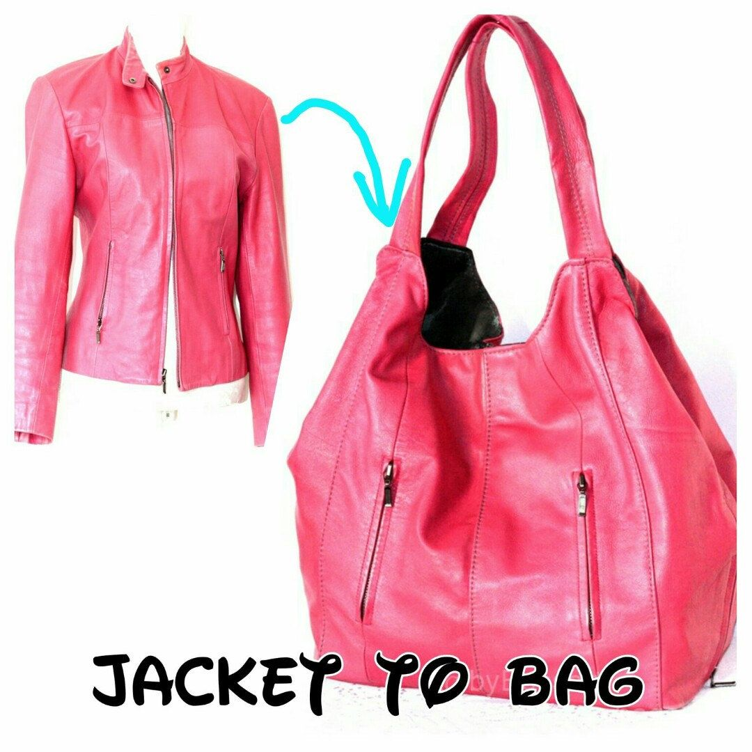 That is the jacket and a bag I made out of it | tasker | Pinterest ...