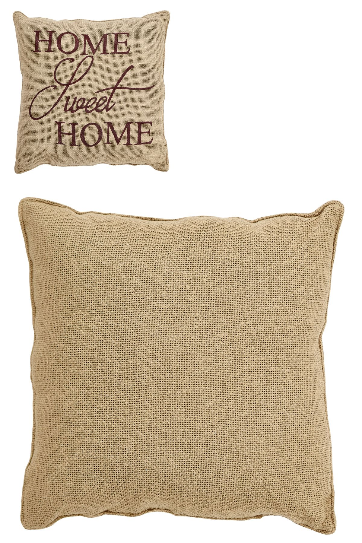 Decorative Bed Pillows 115630 Home Sweet Home Burlap 12 X 12 Primitive Farmhouse Throw Pillow Vhc Brands Buy It No Decorative Bed Pillows 115630 In 2019