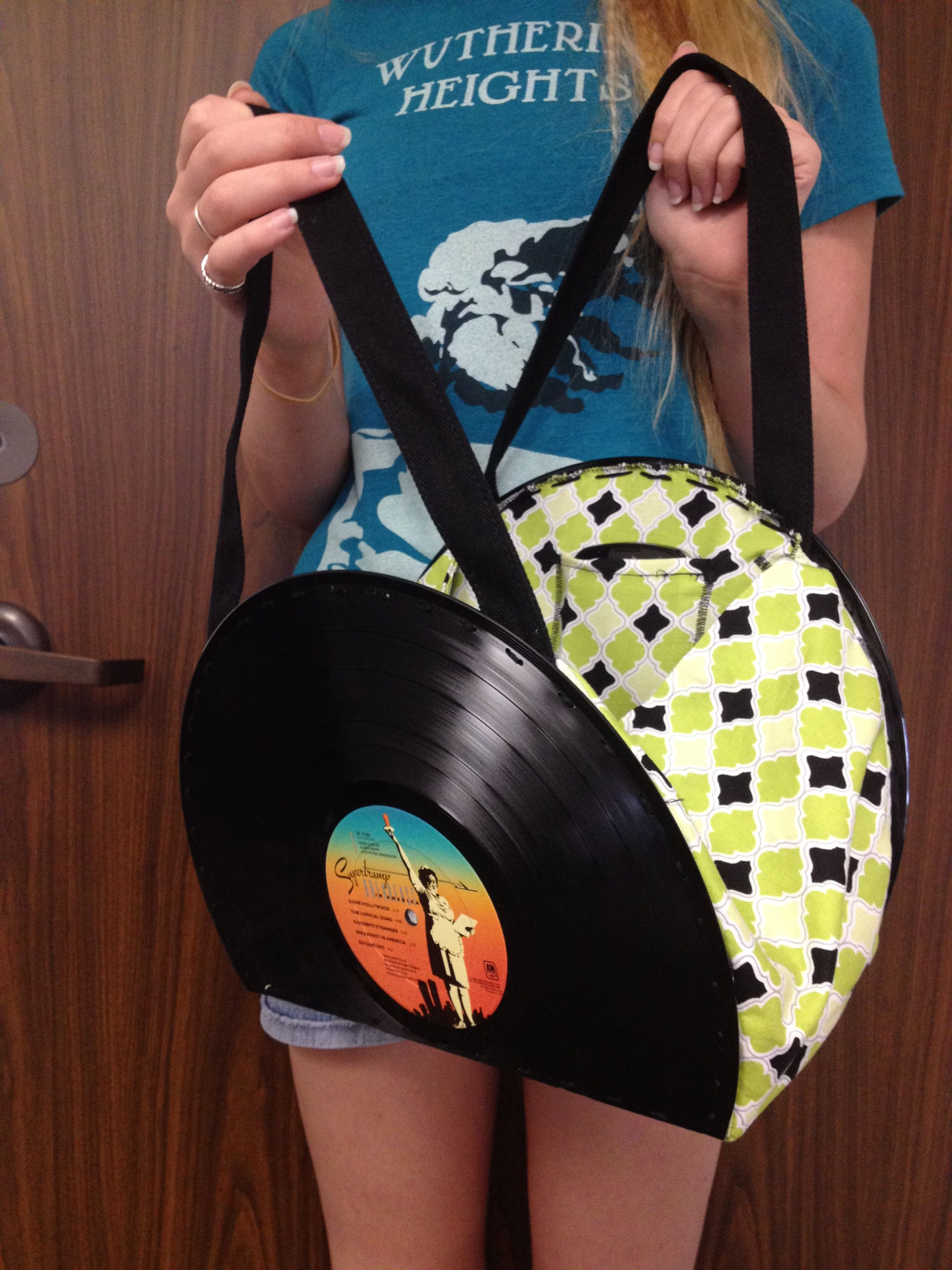 Vinyl Record Book Cover Diy : Record purse crafts i have made pinterest art