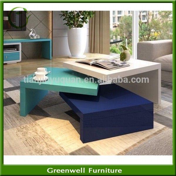 Estilo ikea moderna mesa de centro de madera mesa de café acuario ...