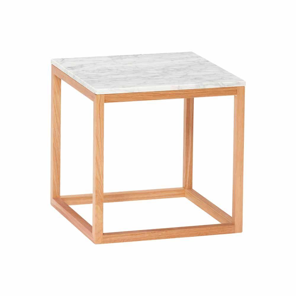Beistelltisch Mit Holz Marmor Milanari Com Wohnzimmertische Beistelltische Beistelltisch