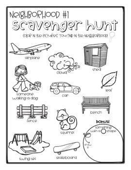 Scavenger Hunt FREEBIE! (Neighborhood, Backyard, House