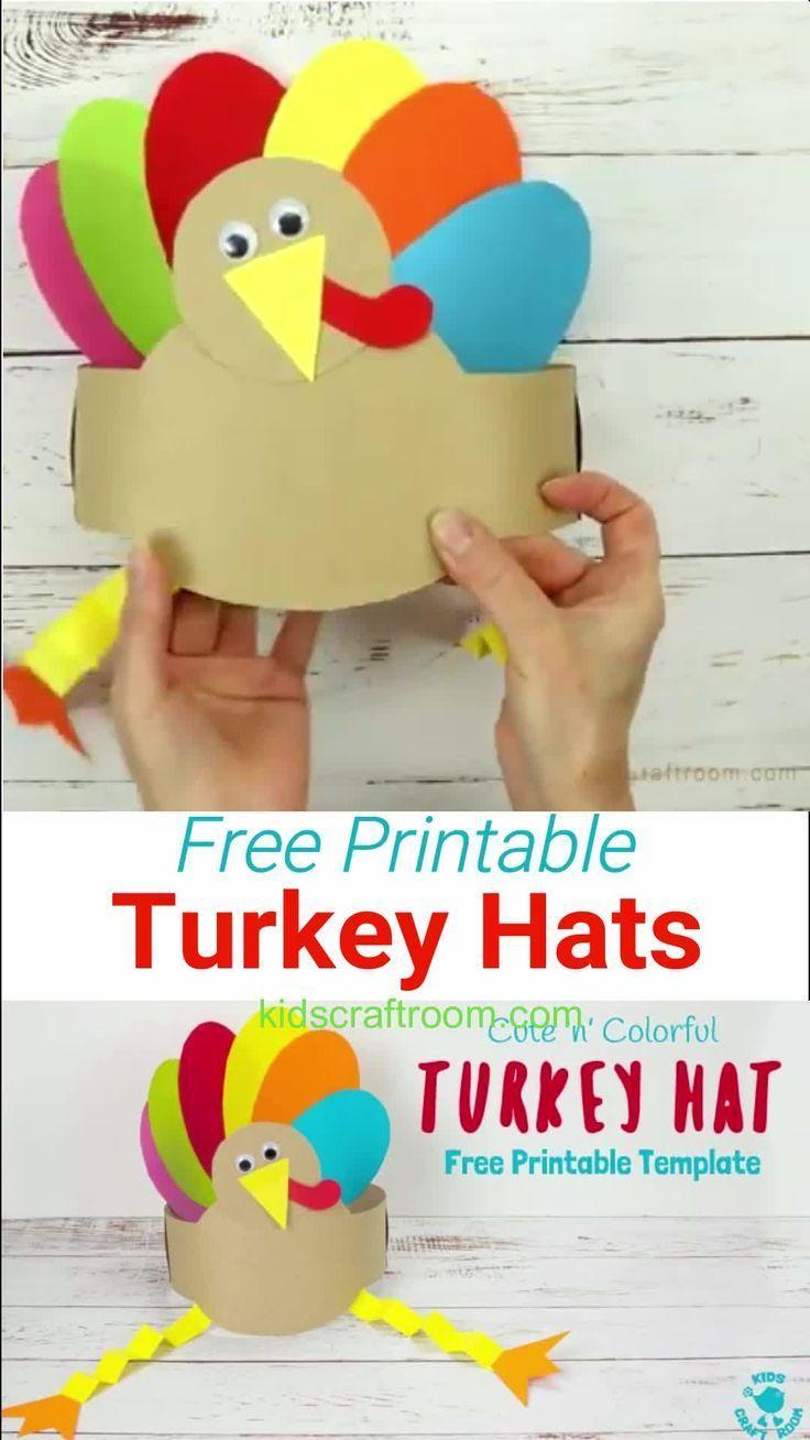 Printable Turkey Hats