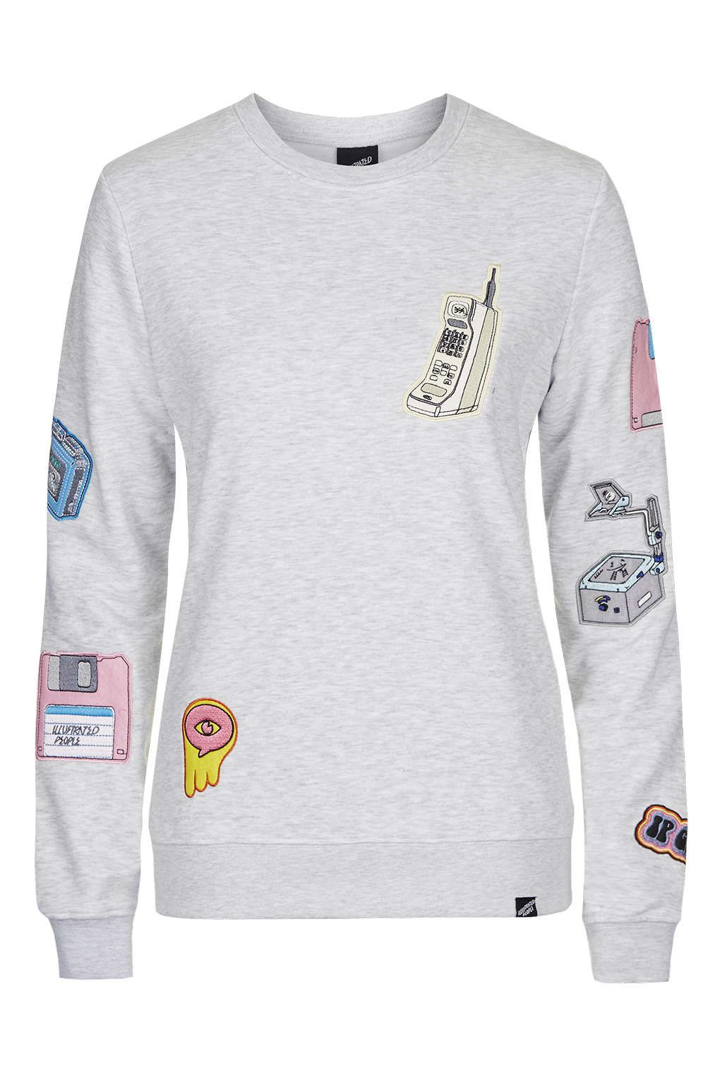 b29b41472 **Techno Embroidered Jumper by Illustrated People - Tops - Clothing -  Topshop