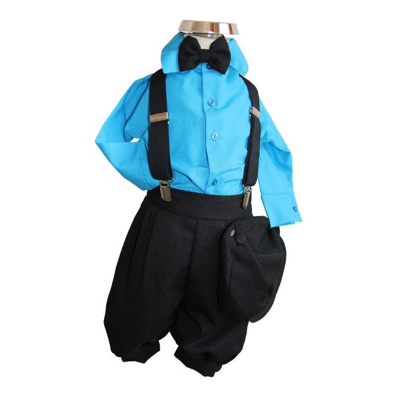 bimaro baby jungen babyanzug louis taufanzug schwarz hemd t rkis blau fliege cap anzug taufe. Black Bedroom Furniture Sets. Home Design Ideas