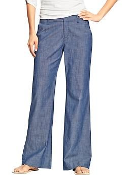 80302dbe47 Women's The Sweetheart Chambray Trousers   Old Navy ...these look so comfy!