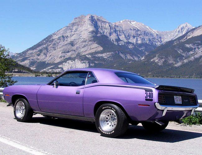 Purple Hemi Cuda