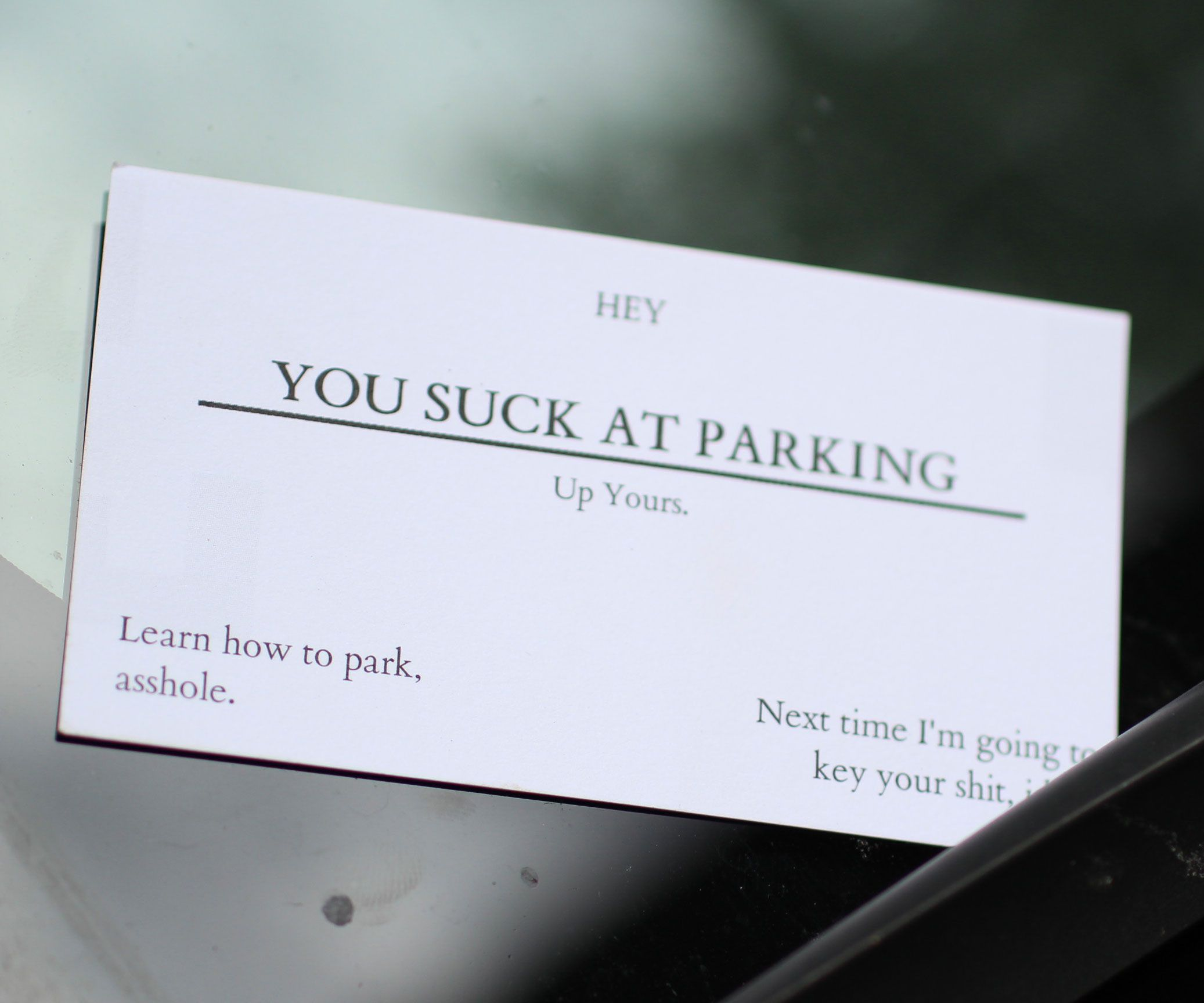 You Suck At Parking Business Cards | Business, Cards and Business cards