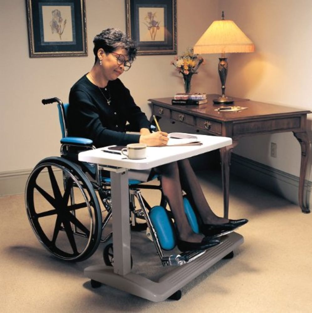 Over the Bed Hospital Wheelchair Tray Adjustable Bedside