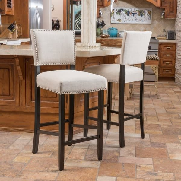 Owen 30 Inch Fabric Backed Bar Stool By Christopher Knight