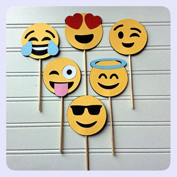 Emojis Cupcake Toppers