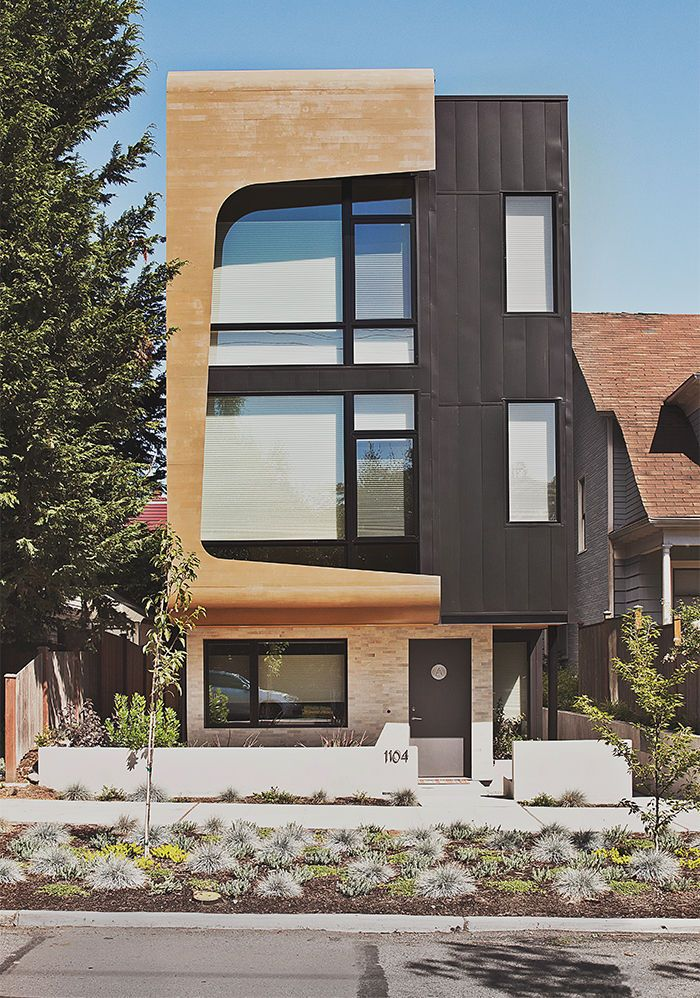 Modern Multifamily Home In Seattle With Cedar And Metal