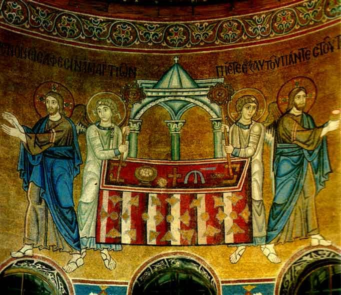 www.school.edu.ru :: Евхаристия. Мозаика Софийского собора ...