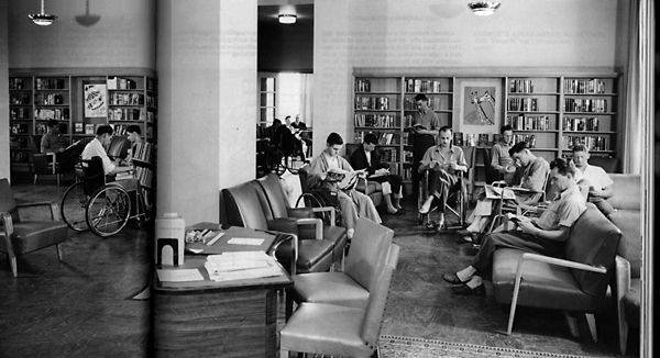 1930s And 1940s Waiting Room Hospitals Post War Room