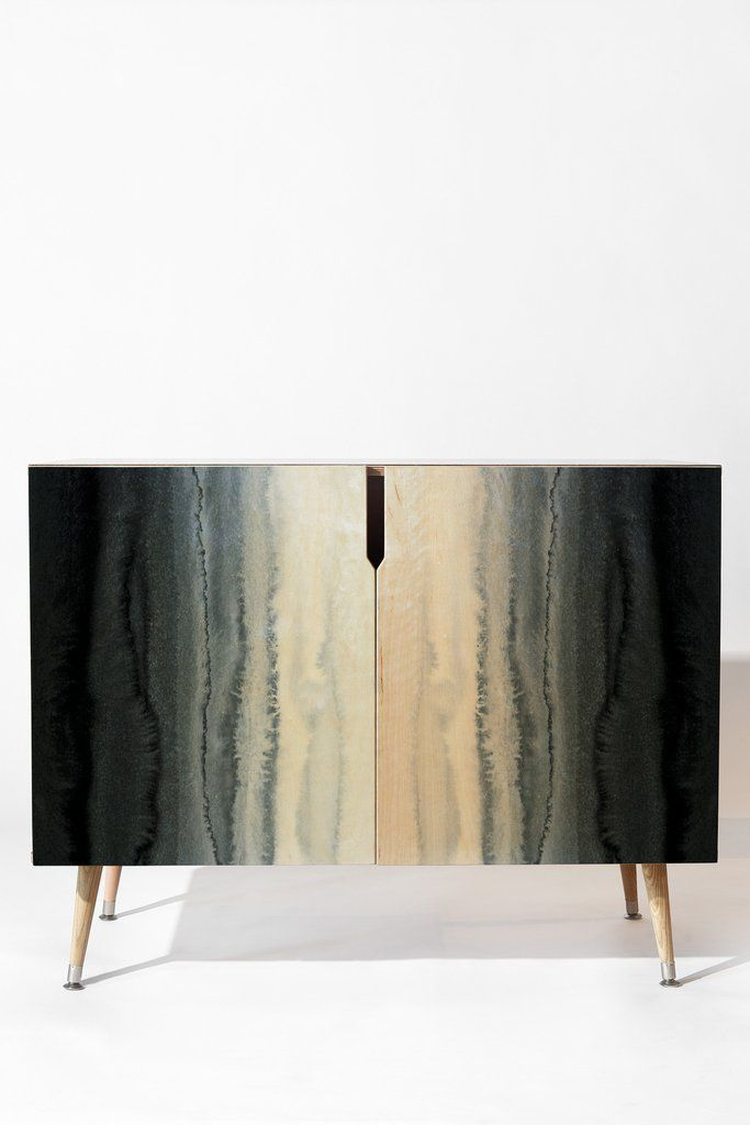 Monika Strigel WITHIN THE TIDES STORMY WEATHER GREY Credenza | DENY Designs  Home Accessories