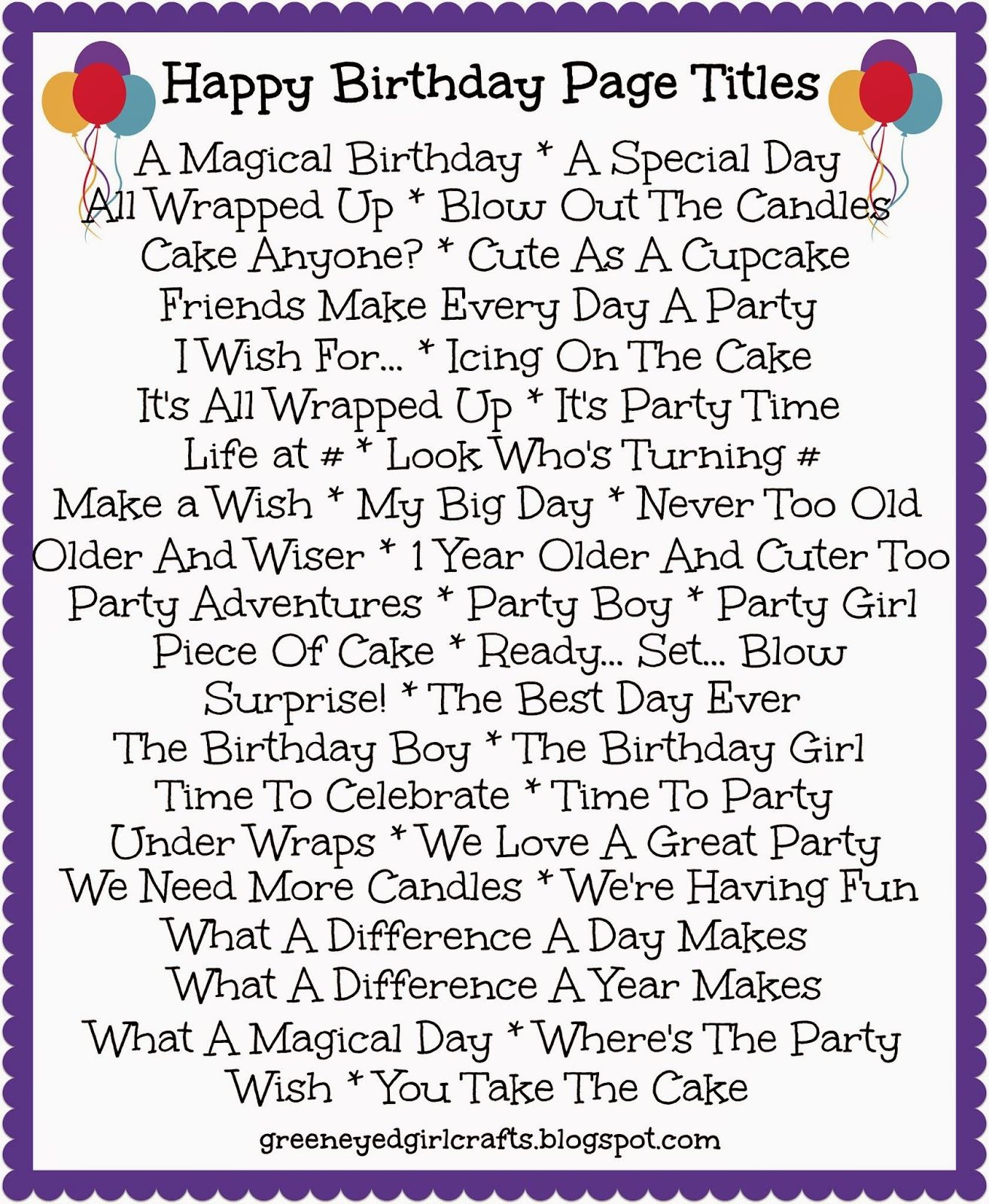 Birthday Scrapbook Pages