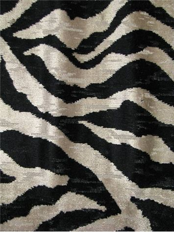 Show Off Coal P Kaufmann Fabric Heavy Soft Velvet Jacquard Zebra Pattern Perfect For An Upholstery Fabric Velvet Upholstery Fabric Animal Print Fabric