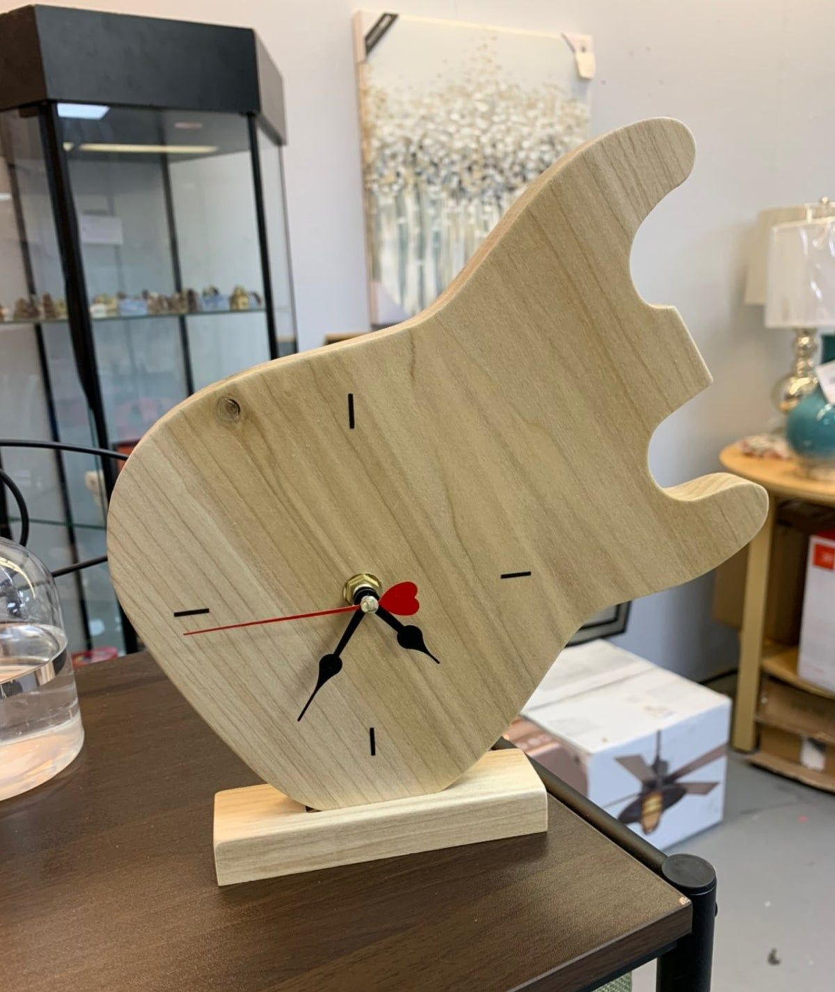 Custom Carved Clock Guitar Shape Custom Carved Custom Jewelry Shapes