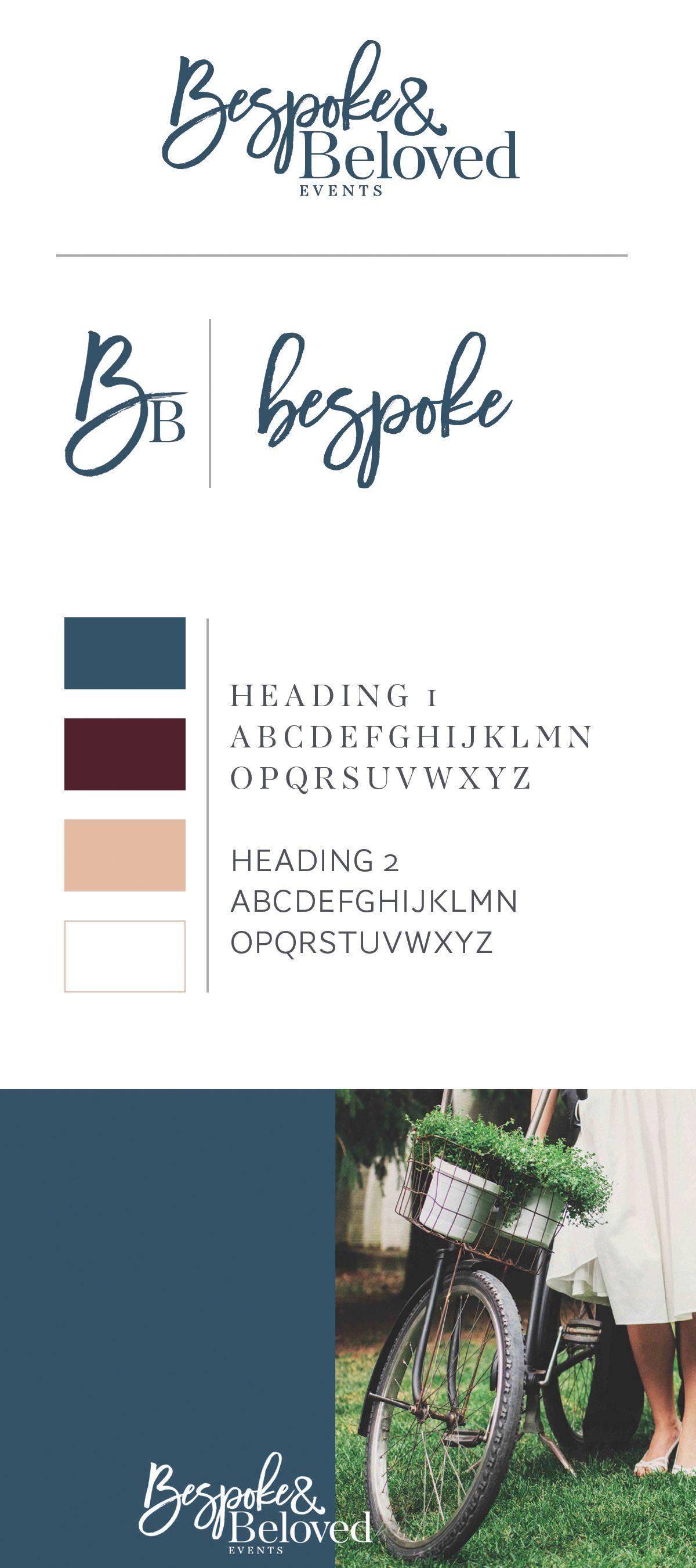 Wedding Planner Coordinator Event Company Branding Logo Design Brand Board Script Modern Alisabeth Designs