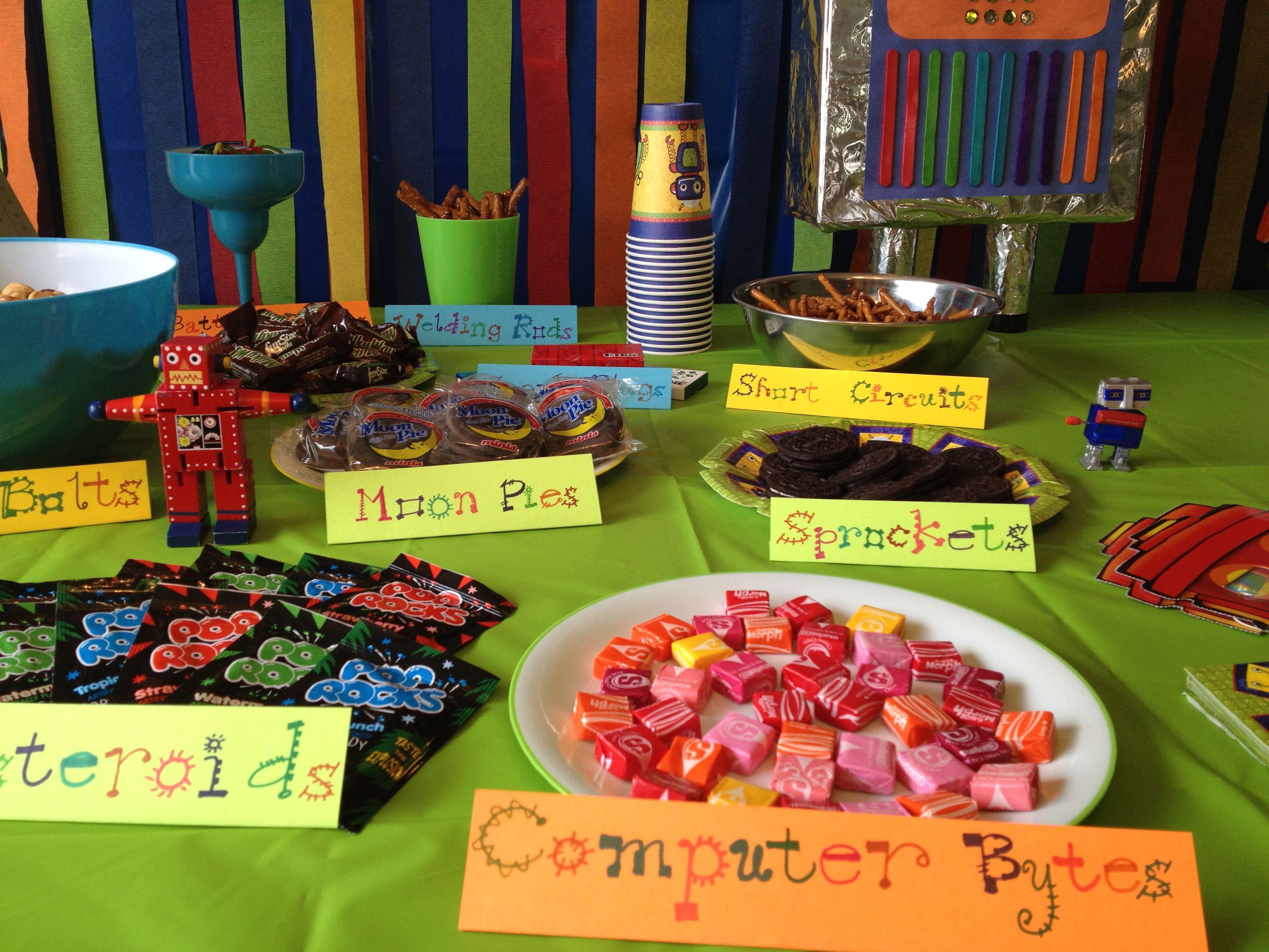 Robot Birthday Party Food Ideas
