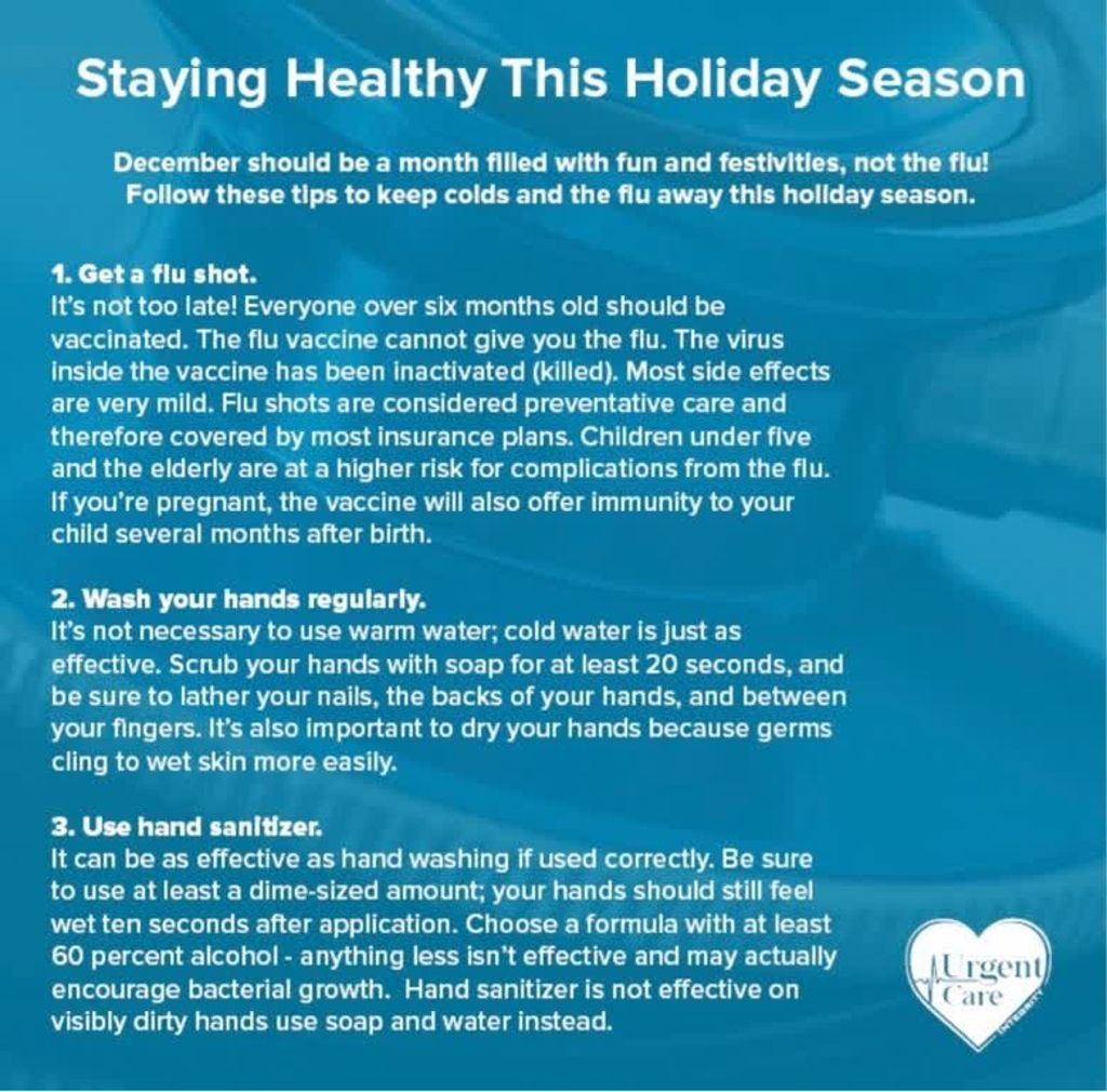 In case you missed our staying healthy this holiday season