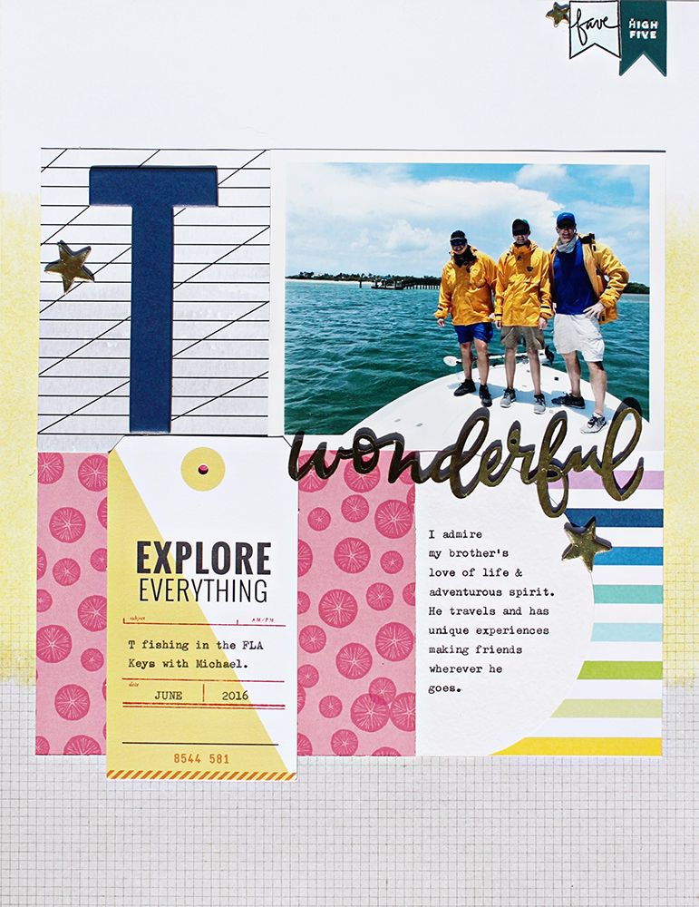 This layout by Kathryn Quintana is featured in the August issue of Spark magazine and uses a template from the Simple Scrapper membership. See more of Kathryn's layouts here!