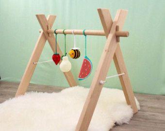 wooden baby gym frame foldable play gym activity gym. Black Bedroom Furniture Sets. Home Design Ideas