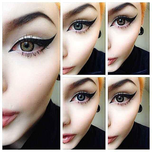Winged Liner On Point Fashion Up Trend Eye Makeup Makeup Eyeliner