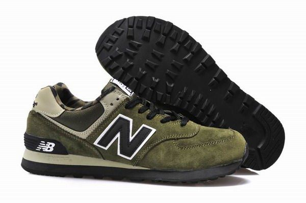 New Balance Womens Military Green 574 Trainers for men