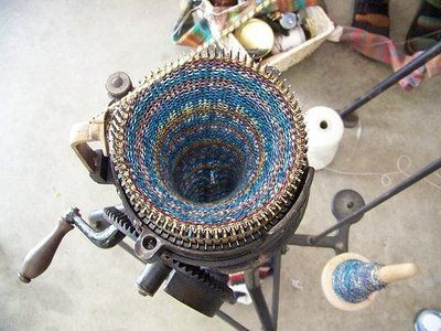 Hand cranked and hand Finished Socks made on an antique circular sock machine