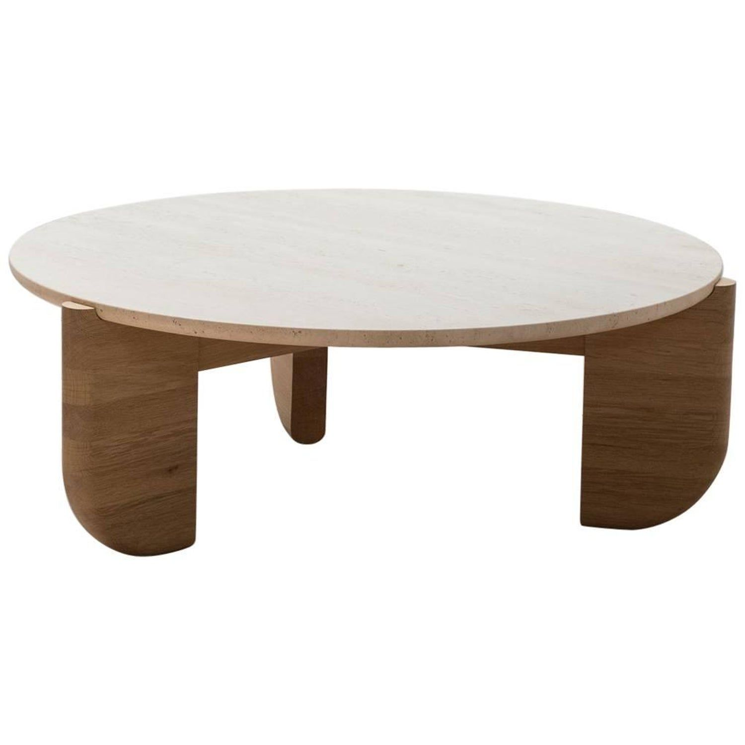 Tripod Coffee Table In White Oak And Travertine Coffee Table White Oak Coffee Table Danish Modern Coffee Table [ 1500 x 1500 Pixel ]