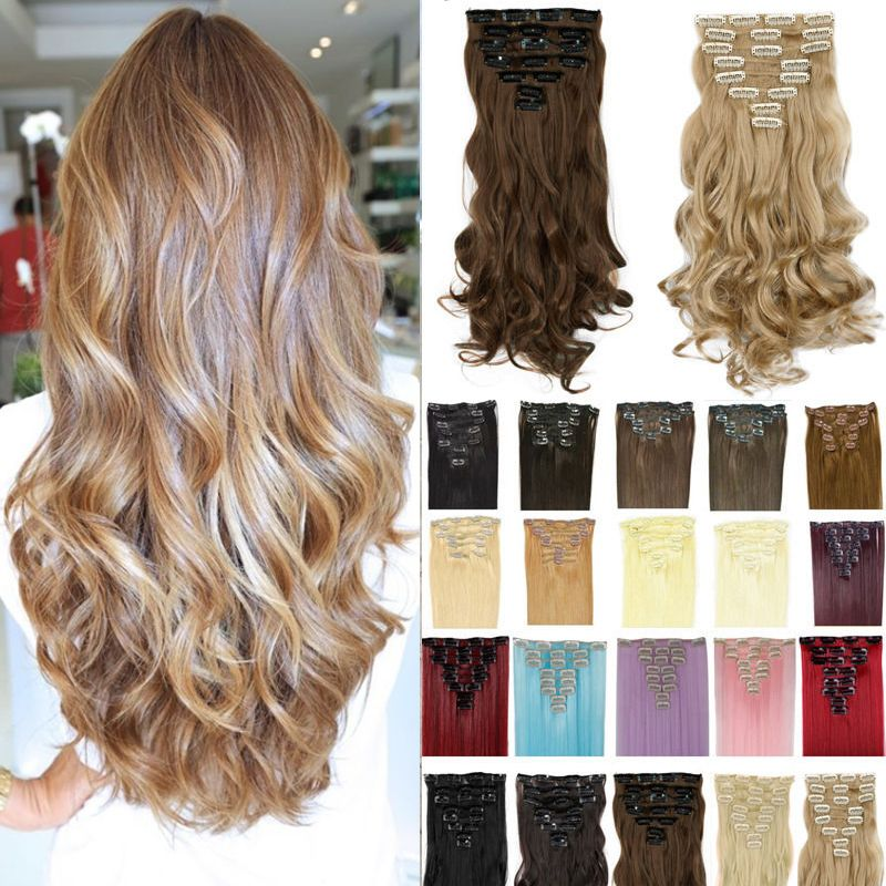 17inch 170g curly clip on natural hair synthetic hair styling clip 17inch 170g curly clip on natural hair synthetic hair styling clip in hair extensions 8 piece pmusecretfo Images