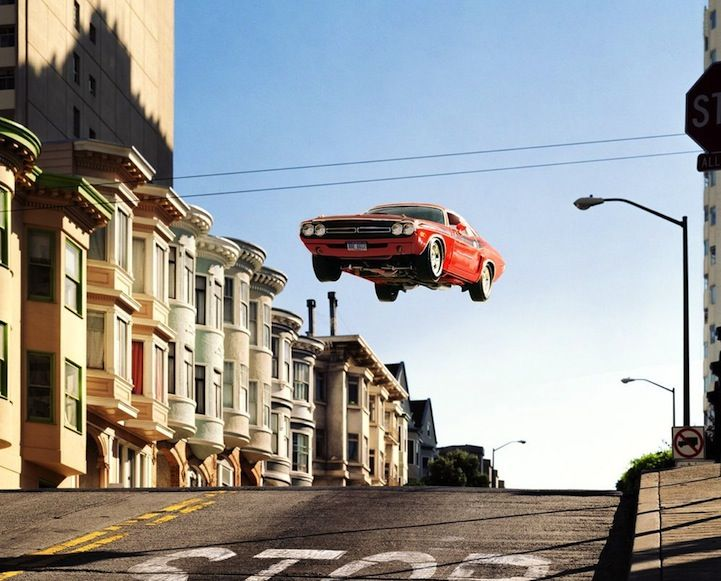Action packed car jumps or weird hovering automobiles Cars - k che wei matt
