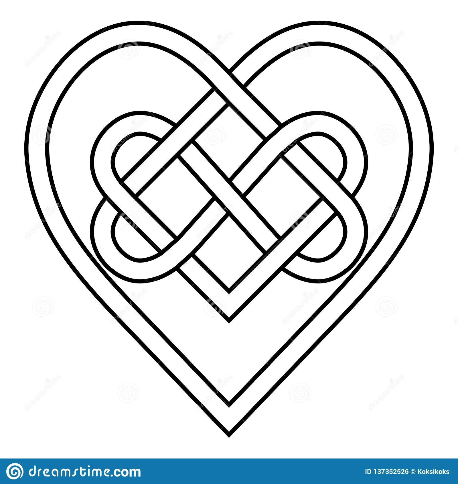 Download Illustration about Celtic knot rune bound hearts infinity ...