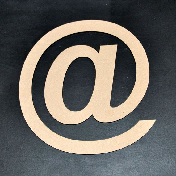 At Symbol Wooden Cut Out At Sign Apetail By Sayhelloshop On Etsy