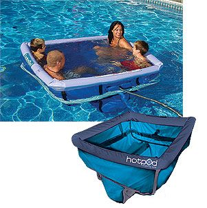 Hot Pod Floating Spa Warmed From Your Pool Heater Pool Heater Cool Pool Floats Lake Fun