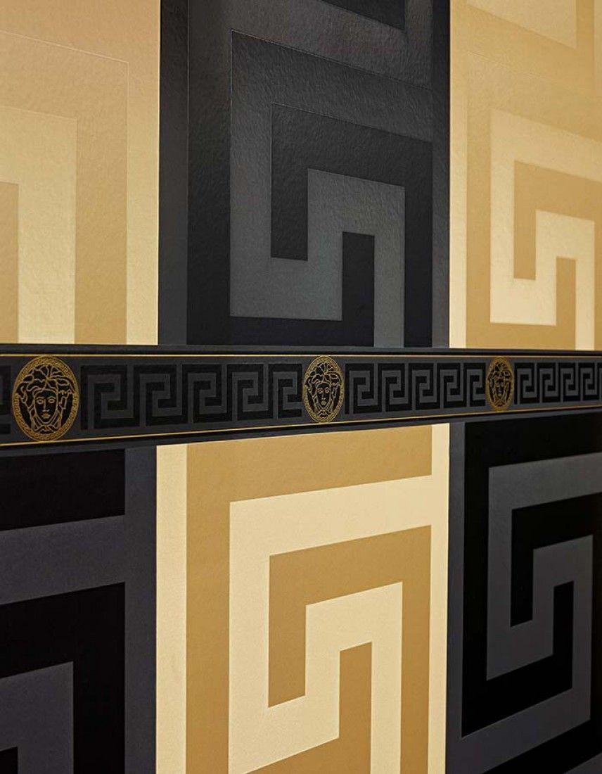 Papier Peint Labyrinthe Luxueux 93523-2 A.S. Création Versace
