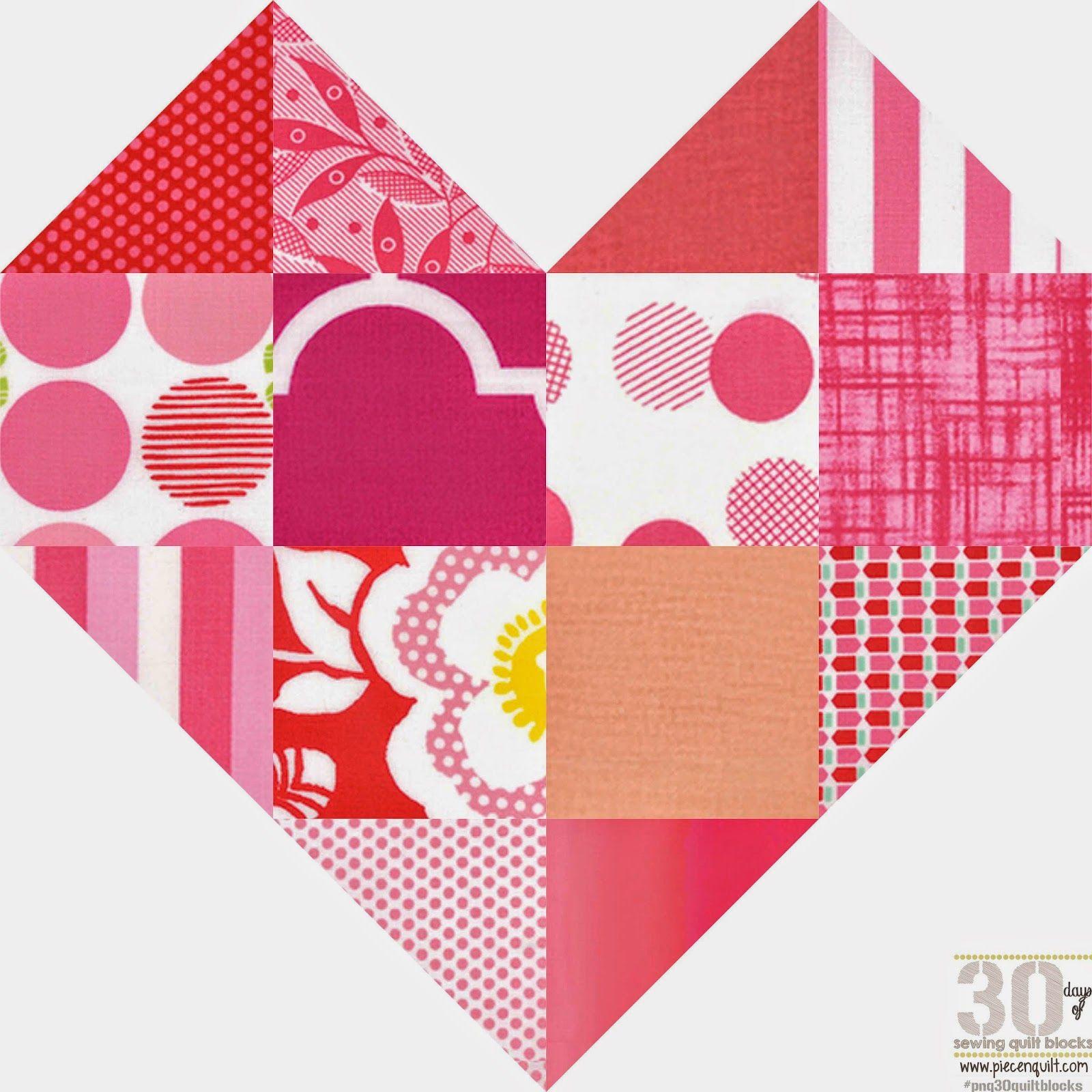 Pieza N Quilt: Cómo: Romance del bloque del edredón - 30 Días de coser Quilt Blocks