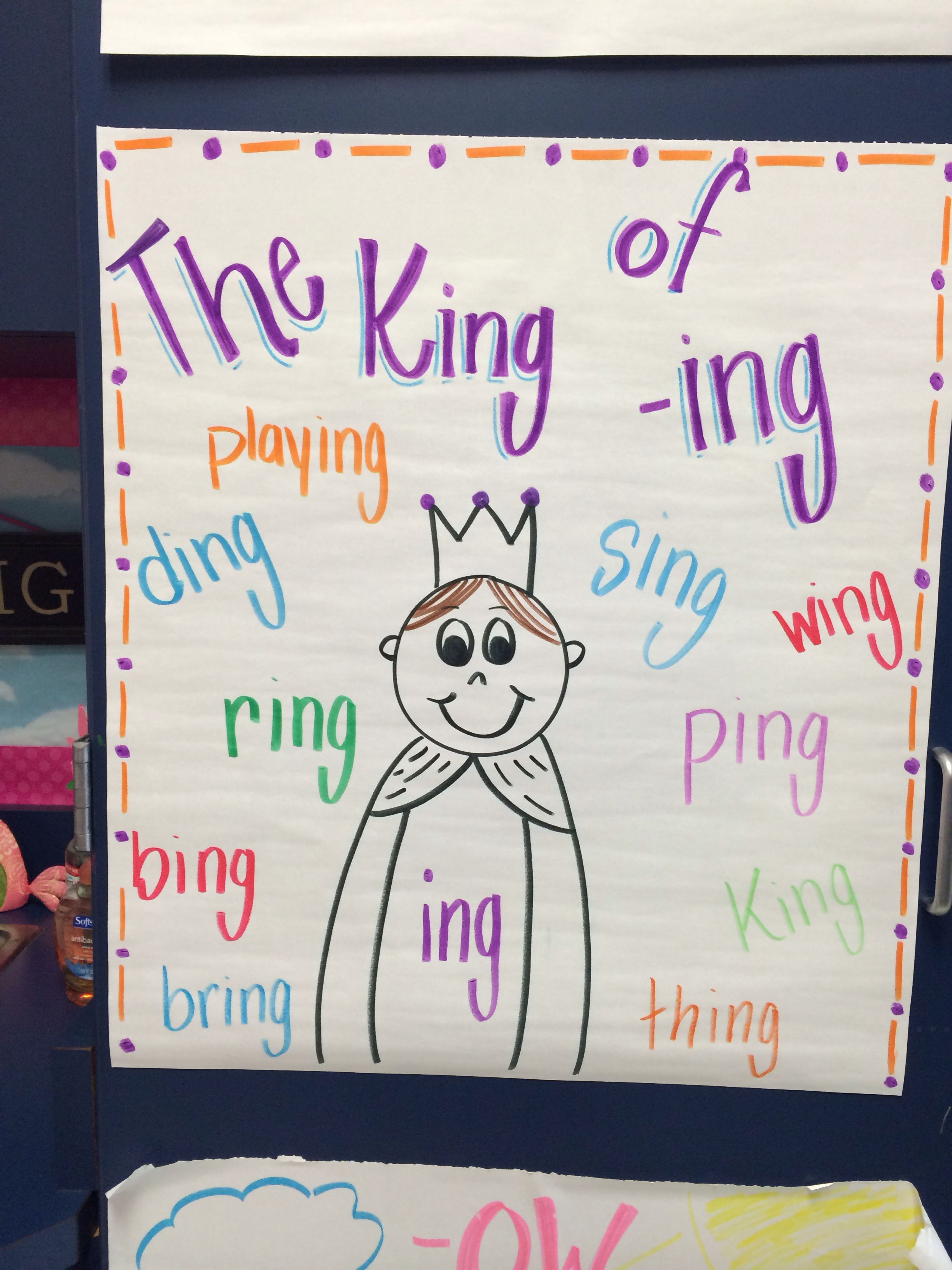 The King Of Ing Anchor Chart