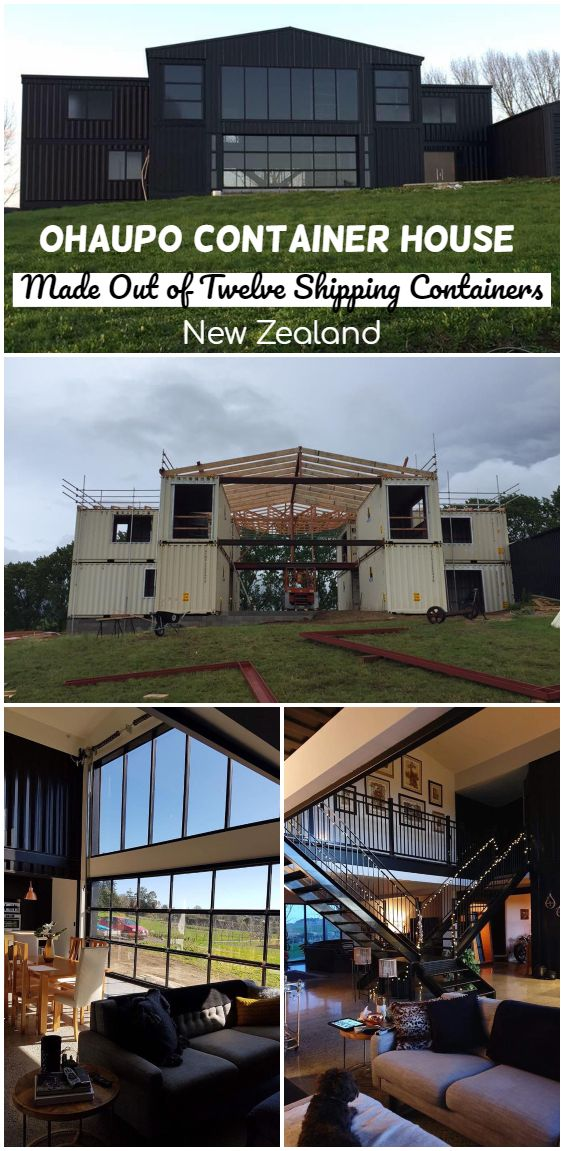 Ohaupo Container House Made Out of Twelve Shipping Containers – New Zealand