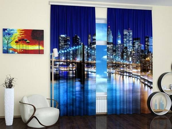 Window Curtains To Enhance Modern Interior Design With Digital Printing Technology
